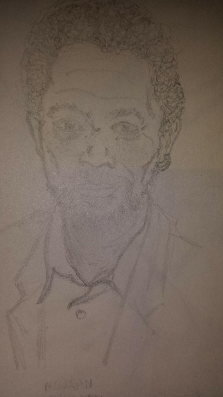 Quick sketch of Morgan Freeman (Pencil)