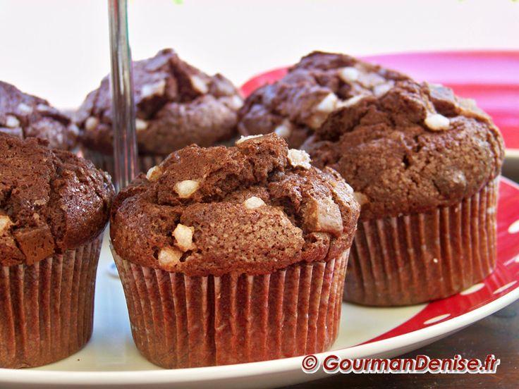 Une envie de chocolat ça ne se refuse pas et c'est avec de délicieux muffins au chocolat... très chocolat que je vous propose de la satisfaire.
