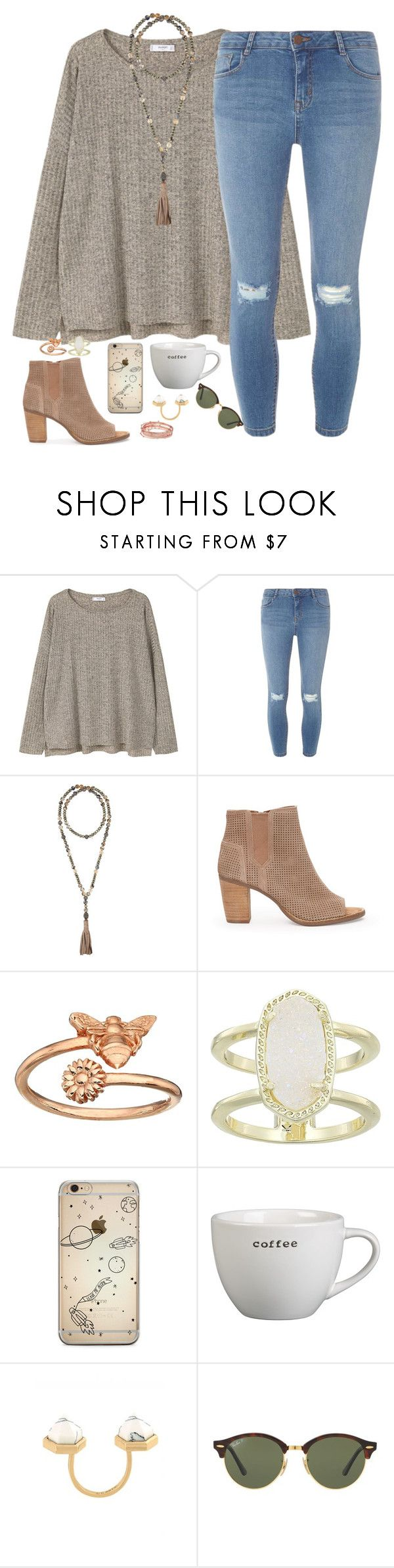 """""""maybe this time"""" by kaley-ii ❤ liked on Polyvore featuring MANGO, Dorothy Perkins, Hipchik, TOMS, Alex and Ani, Kendra Scott, Crate and Barrel, CC SKYE and Ray-Ban"""