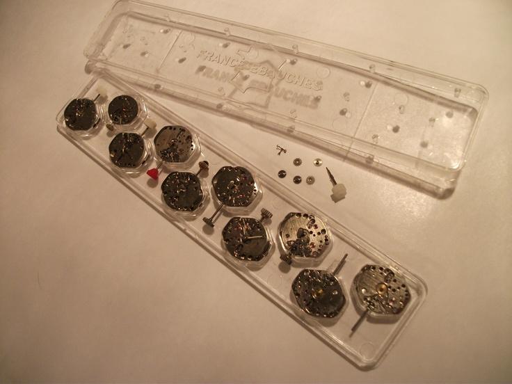 """Mechanical Cufflink movements made by """"France Ebauches"""" facebook.com/EuWaWo"""