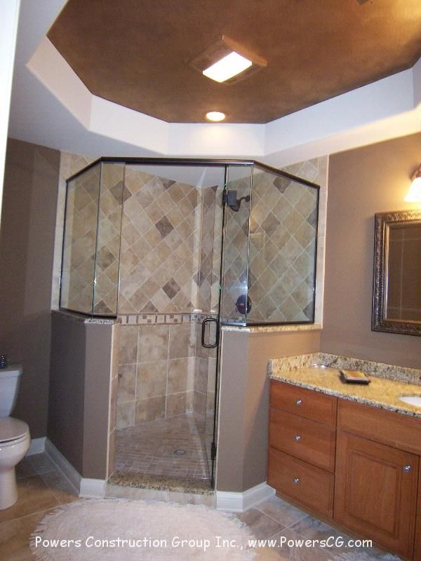 Master Bathroom Corner Showers