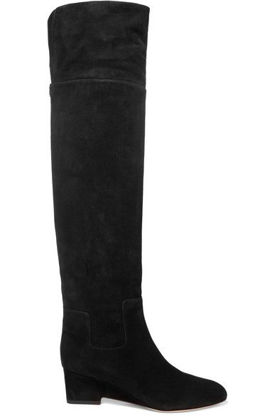Jimmy Choo - Marcie Suede Over-the-knee Boots - Black - IT35.5
