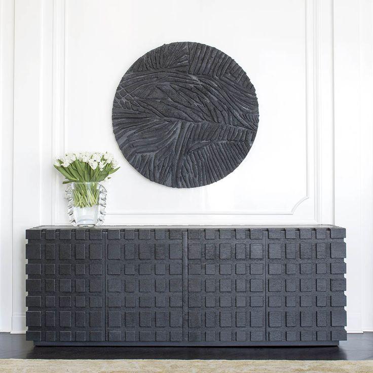 Dresser with details // Modern charcoal grey