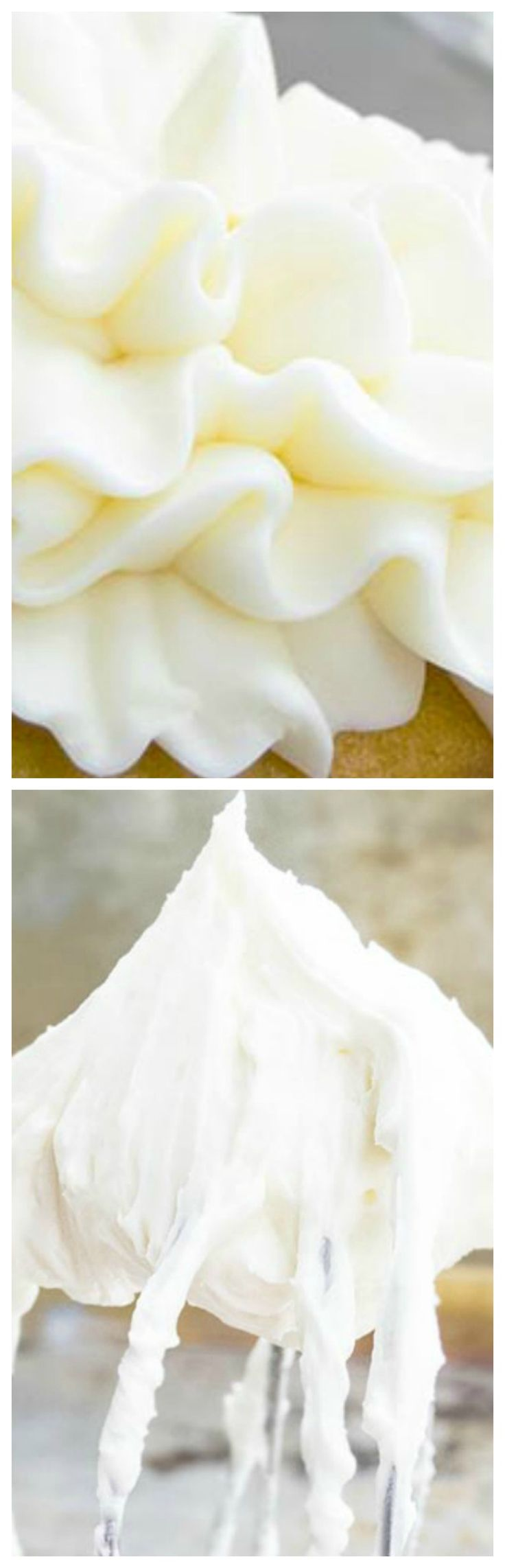 Best Cream Cheese Frosting ~ This is the best cream cheese frosting recipe for piping cupcakes and cake decorating... This stable icing is creamy, fluffy, easy to make and not runny!