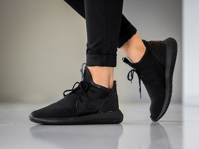 "SOLEKITCHEN: adidas Originals Tubular Defiant womens ""All-Black"""