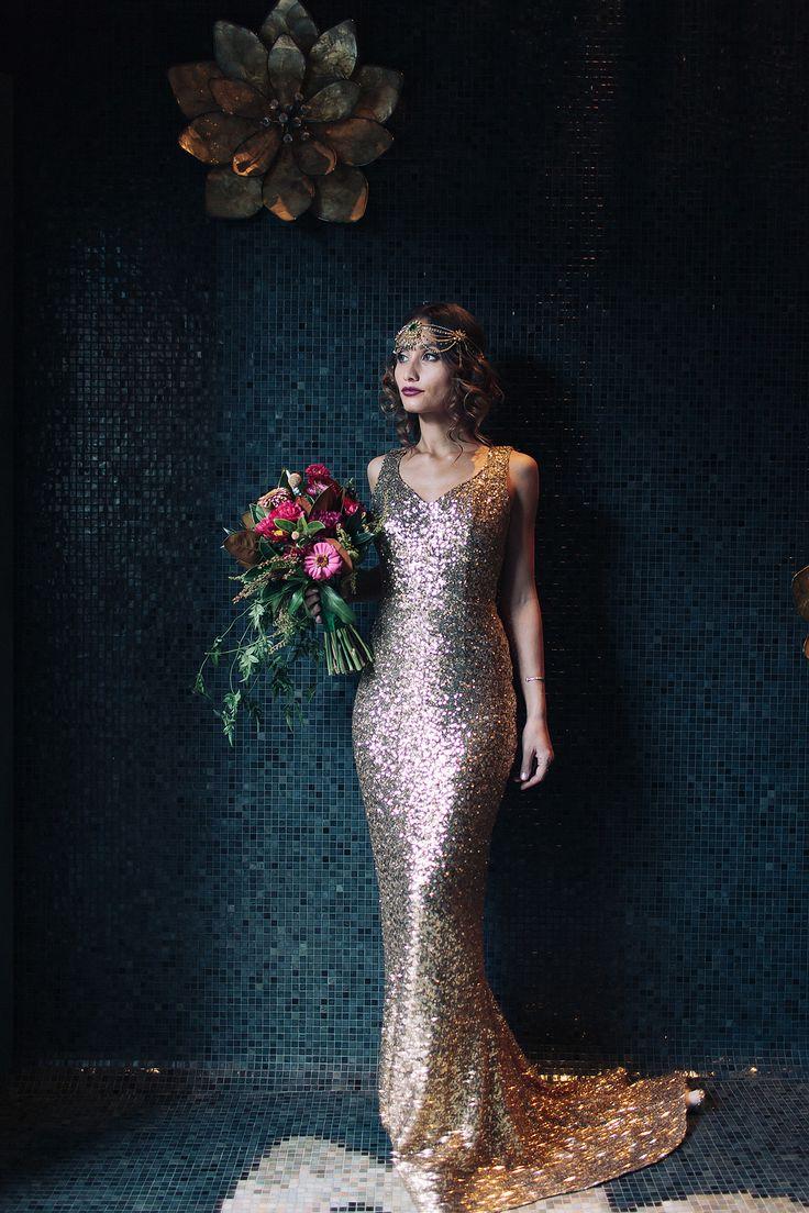 Komorebi headpieces featured in Urban Gatsby Glamour shoot on The Bride's Market blog