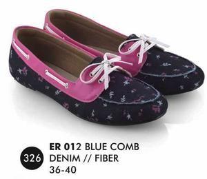 Sepatu Flat Wanita Denim Casual Trendy [ER 012] (Brand Everflow) Free Ongkir