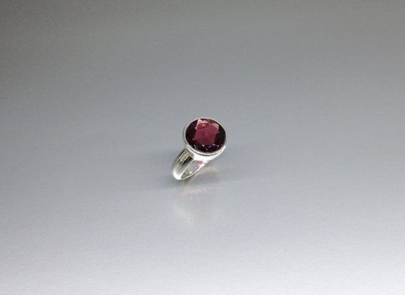 A classic faceted round Garnet ring to adorn you in every way by gemoryprague. Explore more products on http://gemoryprague.etsy.com