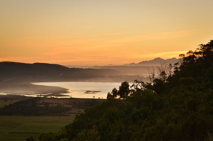 An amazing sunset in Sedgefield, South Africa -- and the perfect road trip itinerary in South Africa.