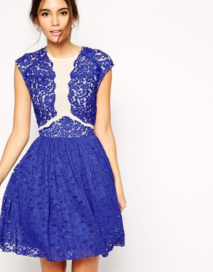 ASOS Premium Prom Dress With Lace Applique