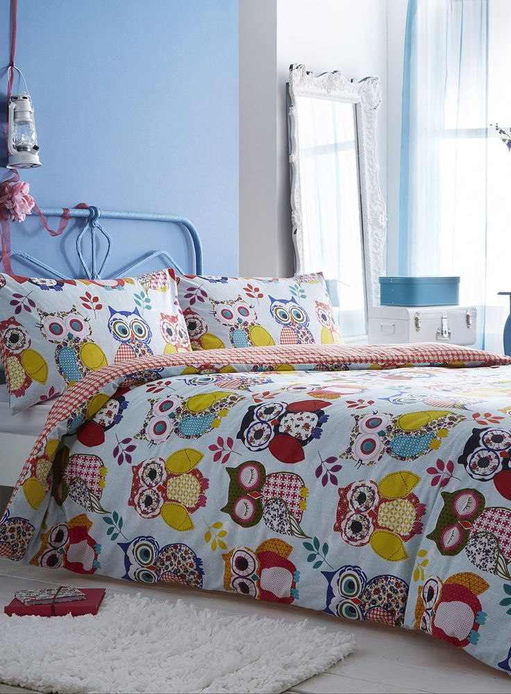 Summer Owl Bedding Set Pinned by www.myowlbarn.com