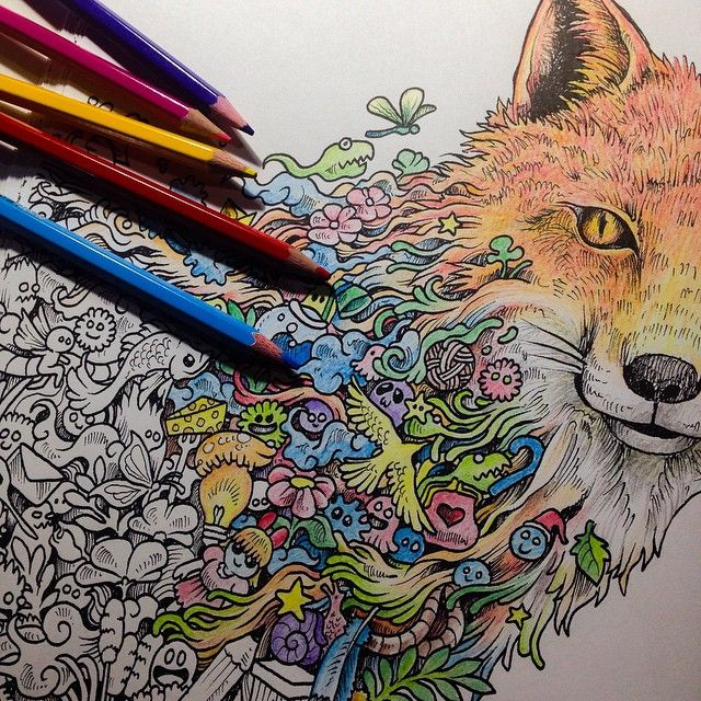 Suddenly Got Addicted Colouring My Animorphia Author Copies Feels Good To Use Colored Pencils