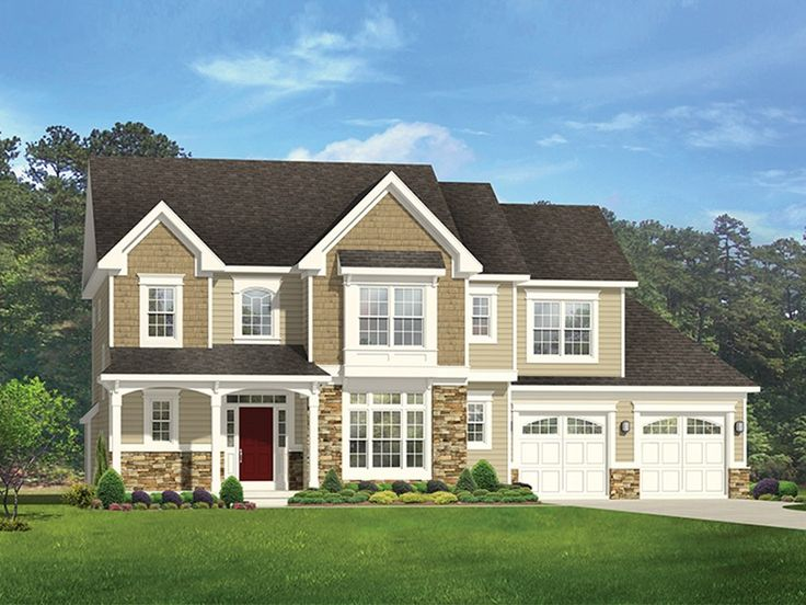 Colonial Home Plan With 2851 Square Feet And 4 Bedrooms From Dream Home  Source | House