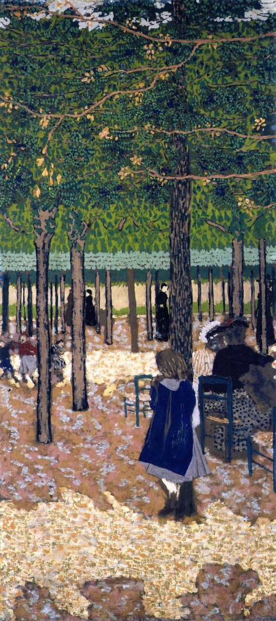 The Athenaeum - The Public Gardens - Under the Trees (Edouard Vuillard - 1894)