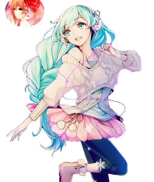 Hatsune Miku Render by lraskie.deviantart.com on @DeviantArt