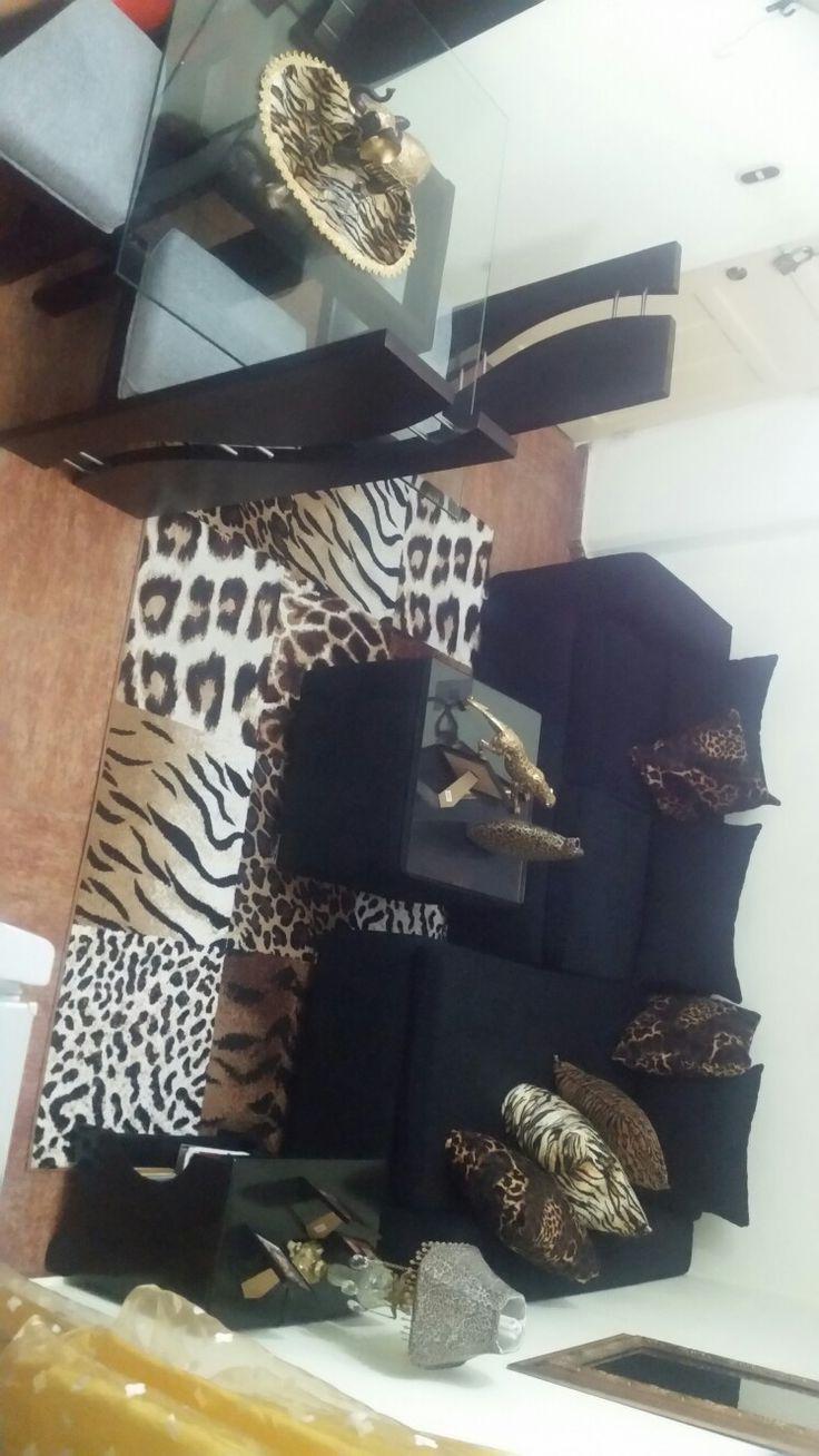 Decoración animalprint leopardo de mi sala ❤❤