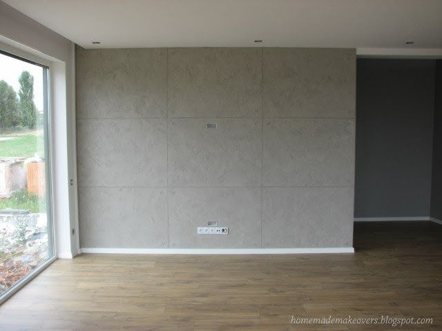 Homemade Makeovers Concrete Diy Wall Paneling Diy Concrete Walls Diy