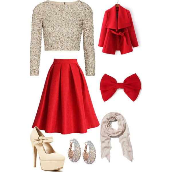 A fashion look from November 2014 featuring Alice + Olivia tops, Chicwish  skirts and Qupid pumps. Browse and shop related looks. - A Fashion Look From November 2014 Featuring Alice + Olivia Tops