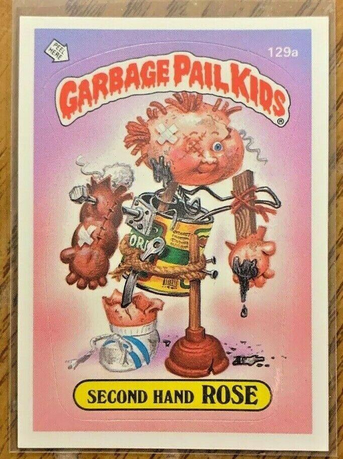 1986 Garbage Pail Kids Original Series 4 Second Hand Rose 129a Gpk Vintage Os4 Garbagepailkids Garbage Pail Kids Cards Garbage Pail Kids Garbage