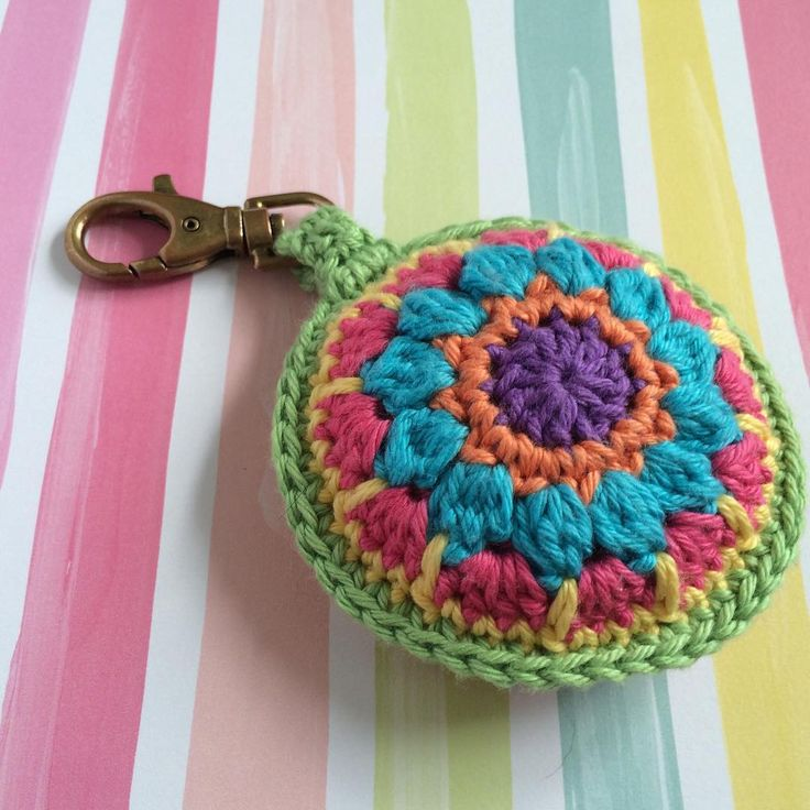 So I made a puffy mandala keyring- so sick of fishing around for my keys in my black hole of a handbag!  This beauty is big and soft and fat - I find my keys straight away!!! Yay!  . #crochet #crochetersofinstagram #crochetgirlgang #craftastherapy #haken #ganchillo #etsyseller #etsyau #etsy #handmade #mandala #crochetmandala #cotton #yarn #cottonyarn #keyring #crochetkeyring #steelandstitch #sfmgsswoon #bluecatcrochet