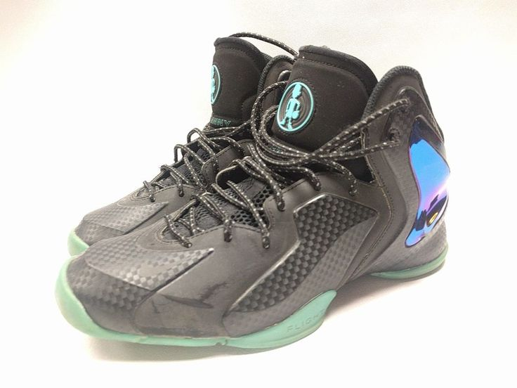 details about nike lil penny posite hyper jade 630999 002 black reflective emerald size 8.5