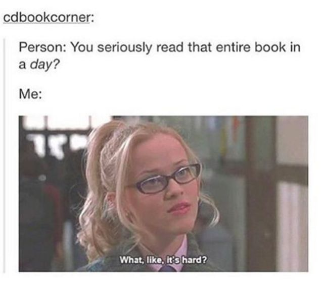 Complaining that you have no social life even though 9 times out of 10 you CHOOSE to stay at home with a book.