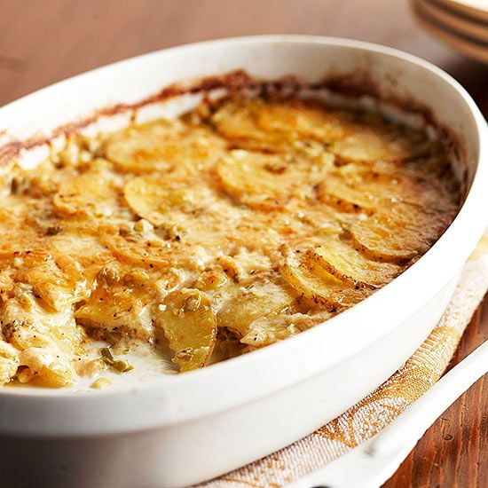 Cheesy Garlic Potato Gratin @Gayle Robertson Roberts Merry Homes and ...