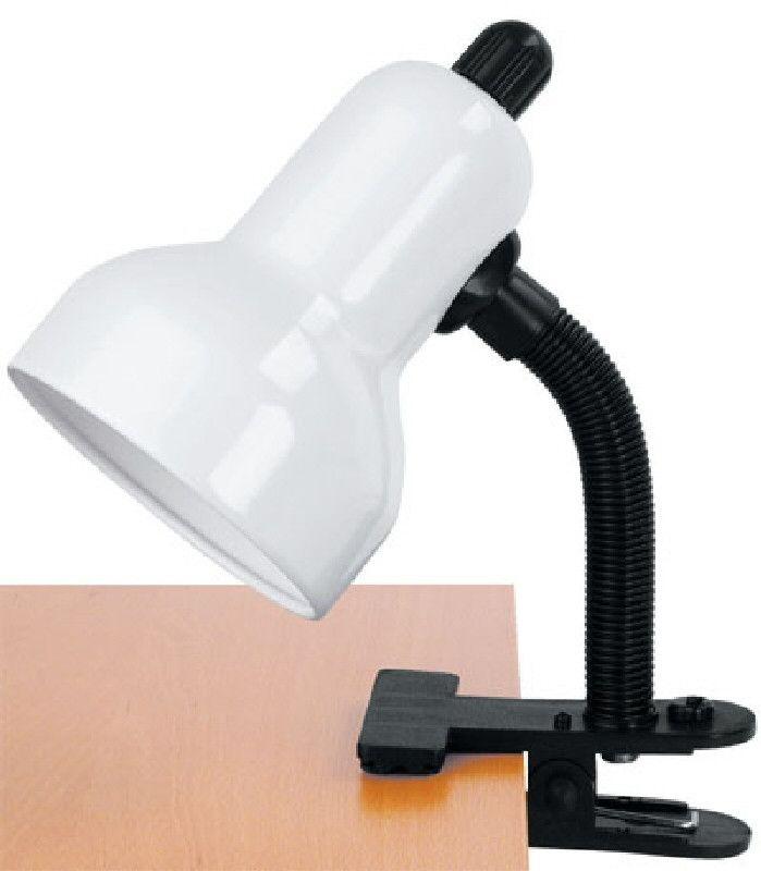 0-005138>Clip-on Desk Lamp Gloss White