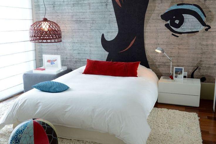 quarto com estilo pop art