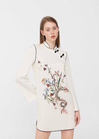 Oriental print dress -  Woman | MANGO United Arab Emirates