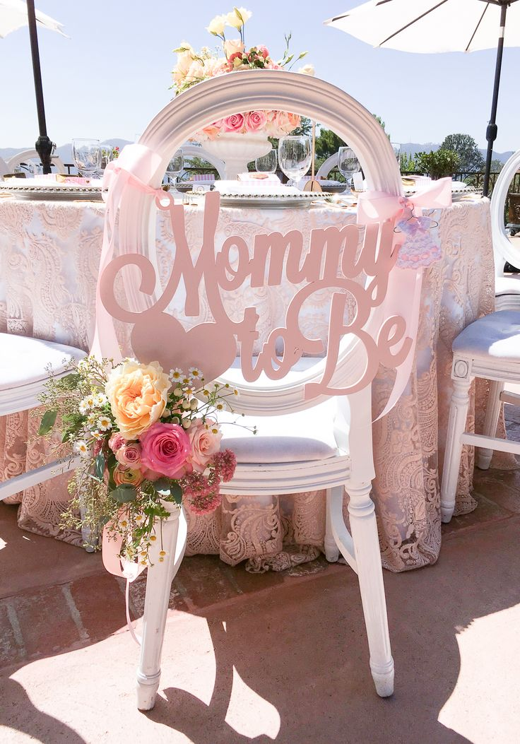 Mommy to Be Baby Shower Chair Sign in Blush Pink by www.ZCreateDesign.com or Shop ZCDGifts on Etsy