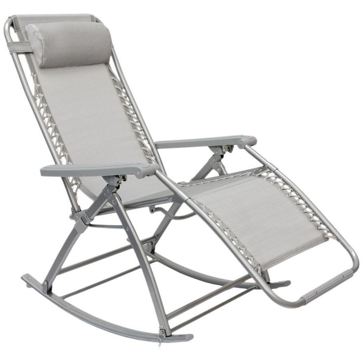 Rocking Chair with adjustable Footrest Recliner Rocking Garden Lounger #GardenCollection