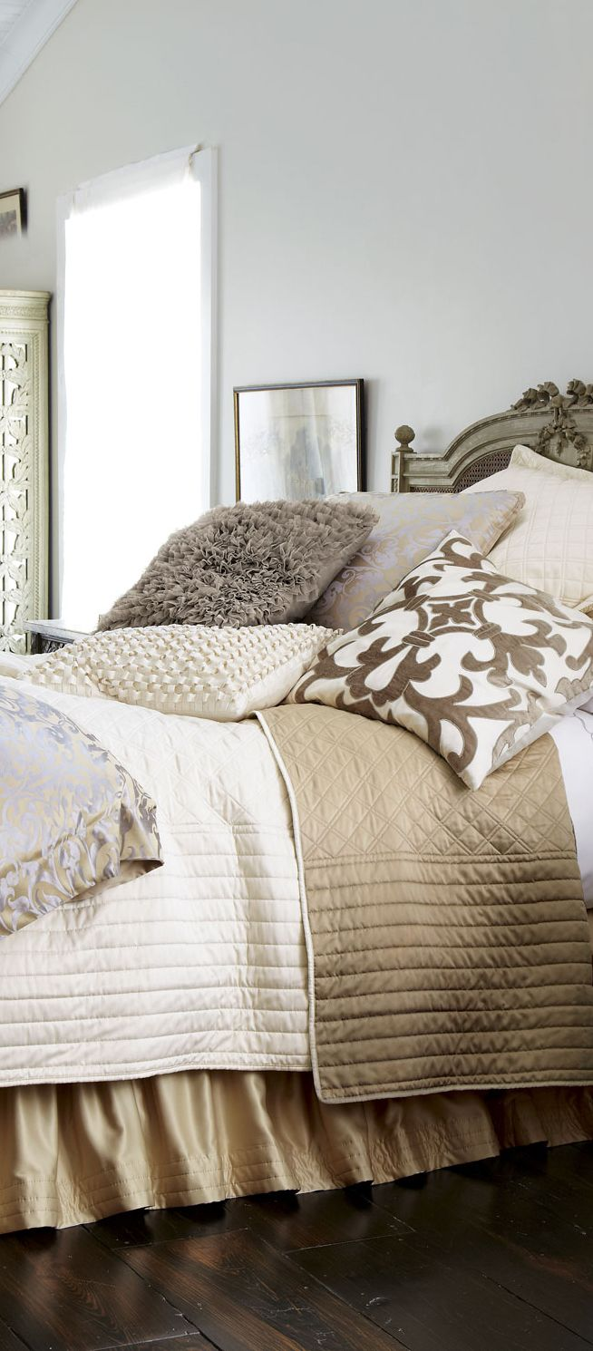 champagnesilver jackie bed linens - Niedliche Noble Schlafzimmerideen