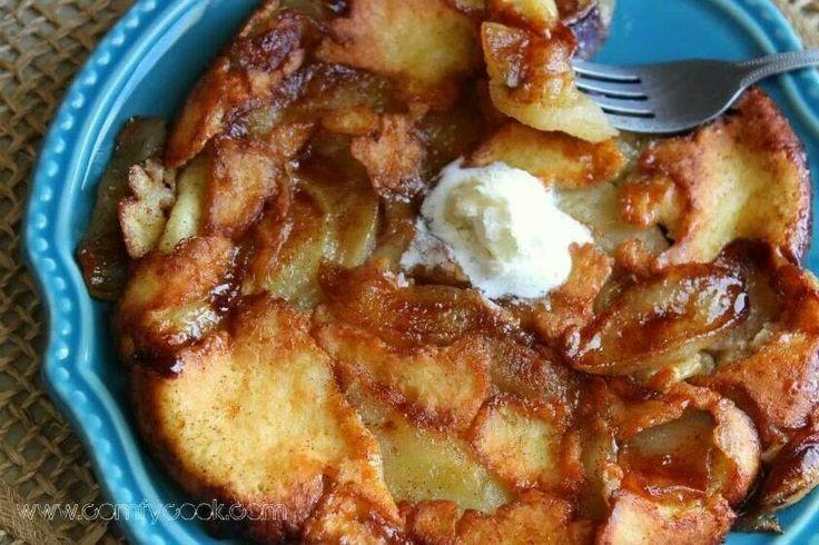 Apple crepe pancake