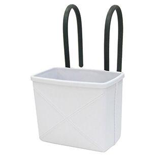 Plastkurv Mano 04, fra Hachiman - Lækker lille kurv i blød plast med bøjelige håndtag.  Brug den til opbevaring af fx køkkengrei, legetøj, bøger og magasin.  Obs ! De hvide er med hvide håndtag