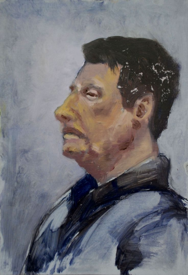 Portre by David Nemeth (oil on paper)