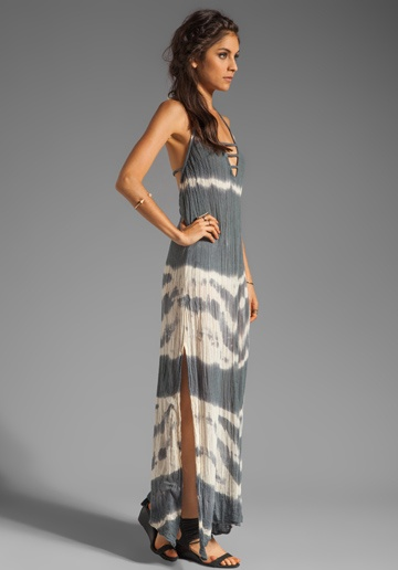 JEN'S PIRATE BOOTY Zumirez Long Tie Dye Dress in Storm Cloud at Revolve Clothing - Free Shipping!