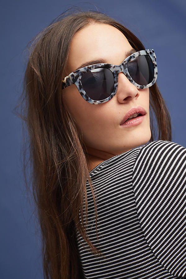 Slide View: 2: Leopard Wayfarer Sunglasses