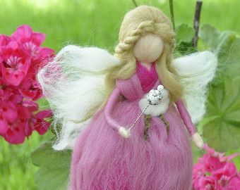 Little needle felted fairy Waldorf fairy Waldorf by DemannaArt