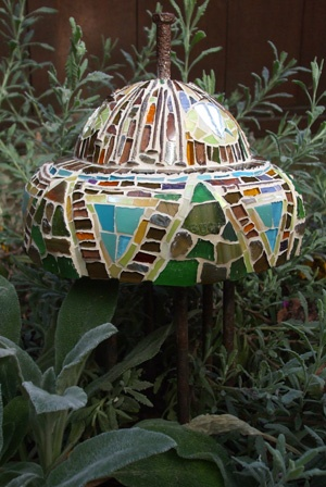 Concrete and Mosaic Sculpture recyled materials