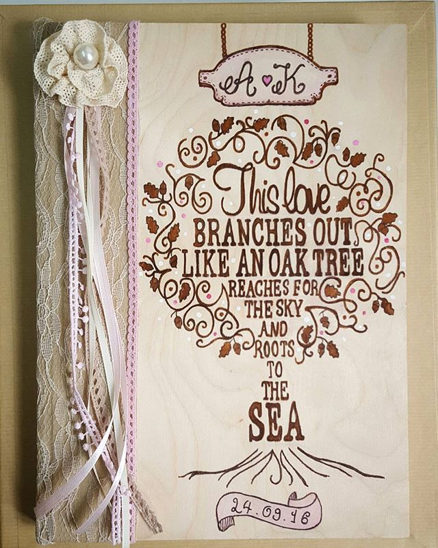 #minidreamers #handmade #handcrafted #wedding_wish_book #oak_tree #wood #greek_wedding #MiniDreamers