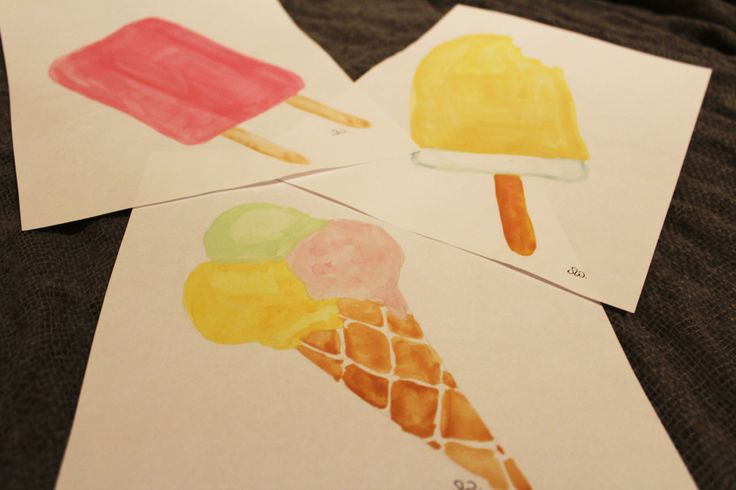 Ice cream watercolours! Delicious and fresh summer vibes