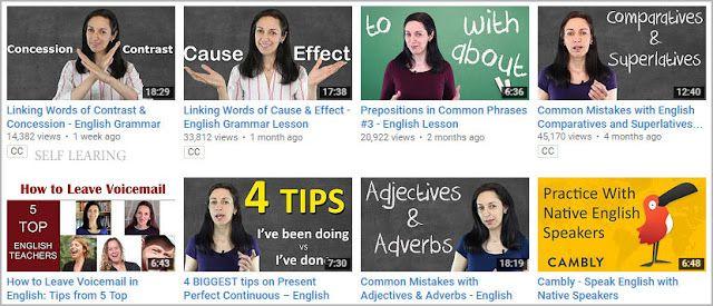 افضل قنوات تعليم اللغة الانجليزية على اليوتيوب Linking Words Grammar Lessons Common Phrases