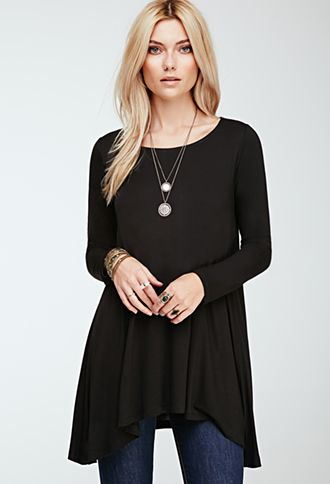 Stretch Knit Trapeze Top | FOREVER21 - 2000136339