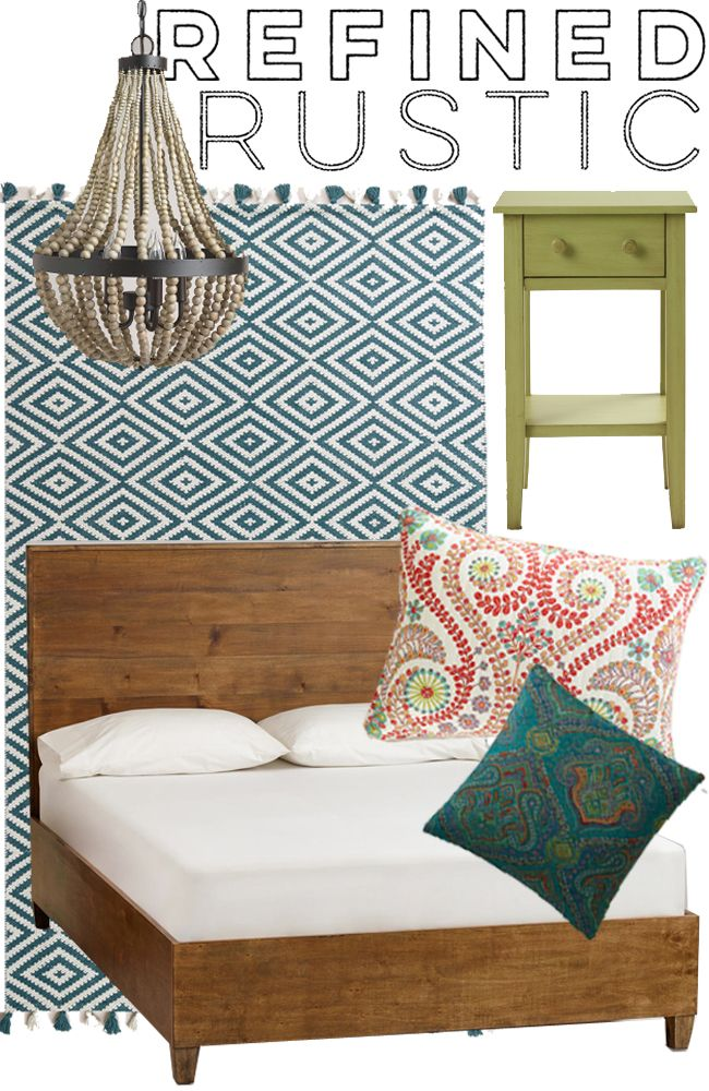 Mood Board Featuring Items From The Bedroom Rug Sale