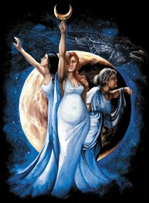 A woman's life, like the faces of the moon. Maiden to Mother to Wise Woman.