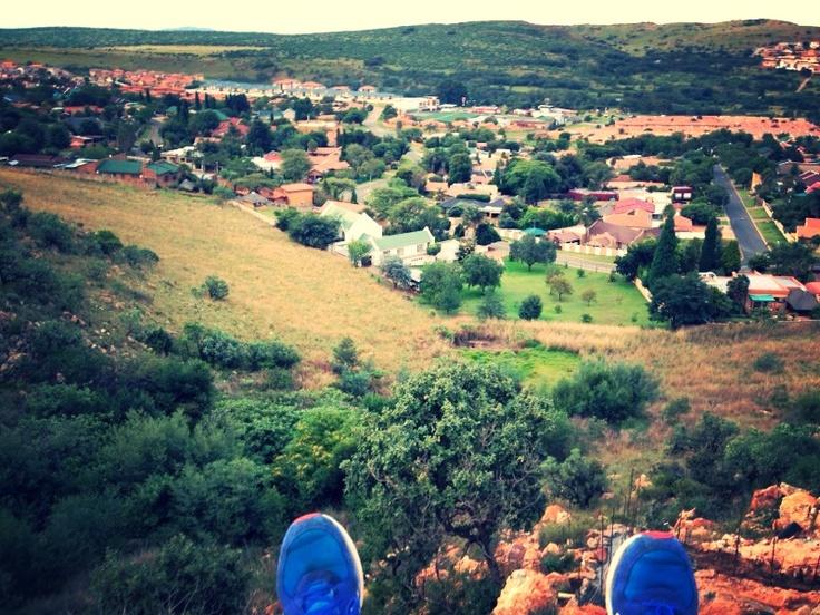 View from the wall, Noordheuwel, Krugersdorp.