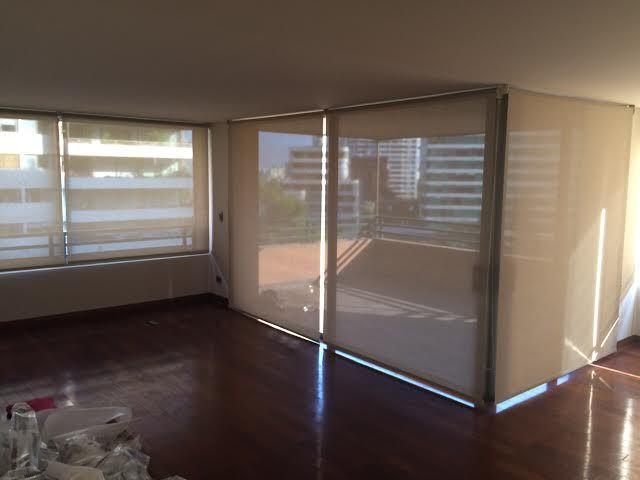 proyecto cortinas Luxaflex para departamento en Santiago. Objetivo: permitir mayor visibilidad sin perder la privacidad de los ambientes