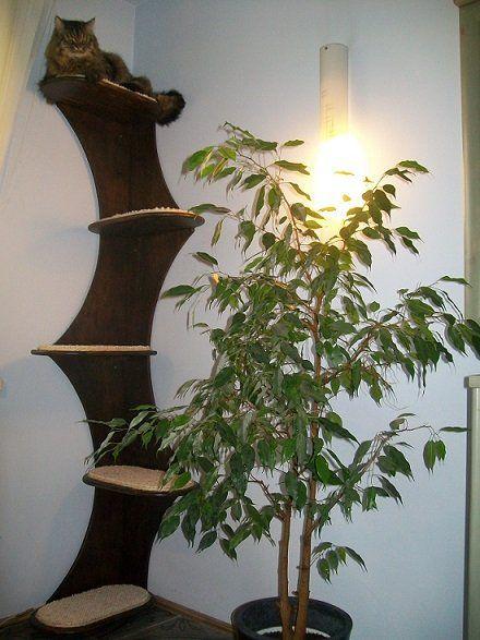 Drzewko - Meble dla kotów Szary Design