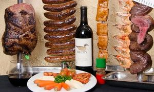 Groupon - Brazilian Surf 'n' Turf Rodizio Lunch or Dinner  for Two at Pampas Brazilian Grille (Up to 43% Off)   in Pampas Brazilian Grille. Groupon deal price: $65
